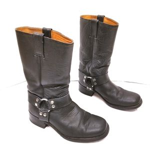 Sancho Leather Harness Square Toe Cowboy Boots
